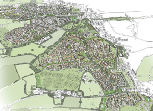 <h3>Aerial view of the vision for Orchard Grove</h3>