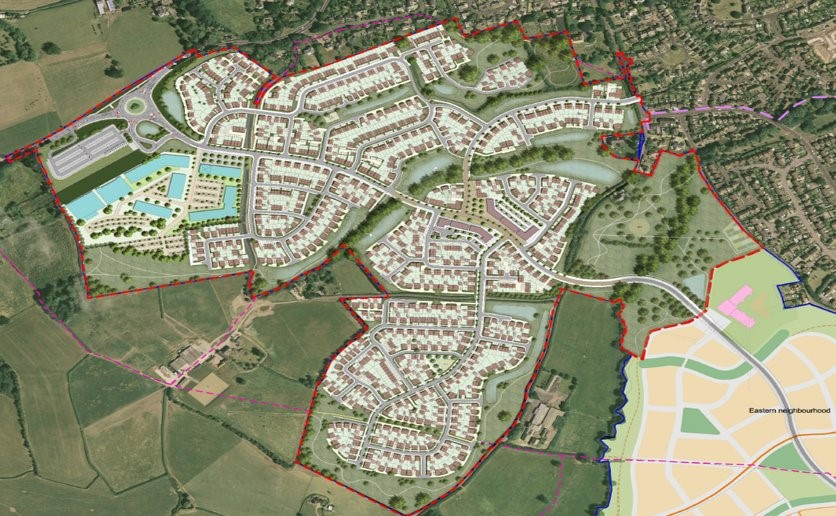 <h3>Approved Masterplan for the Western Neighbourhood</h3>